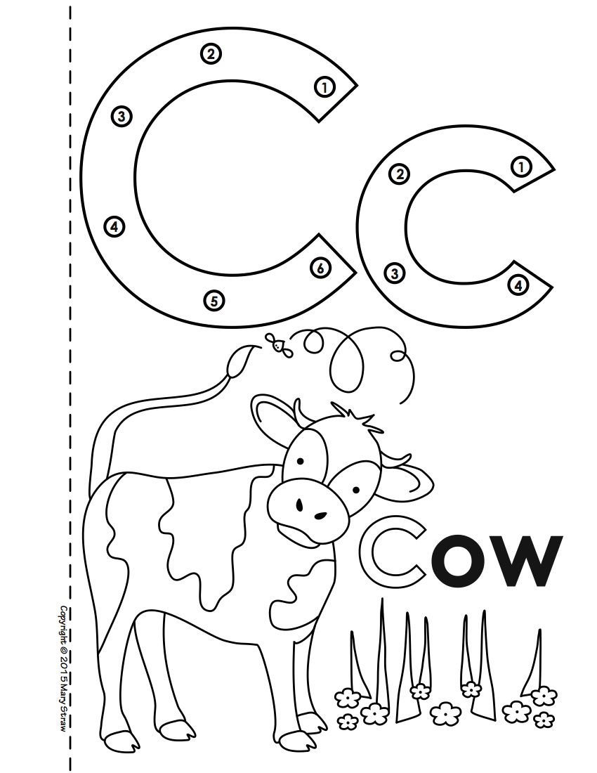 Dot-to-Dot Alphabet Book Activity Coloring Pages