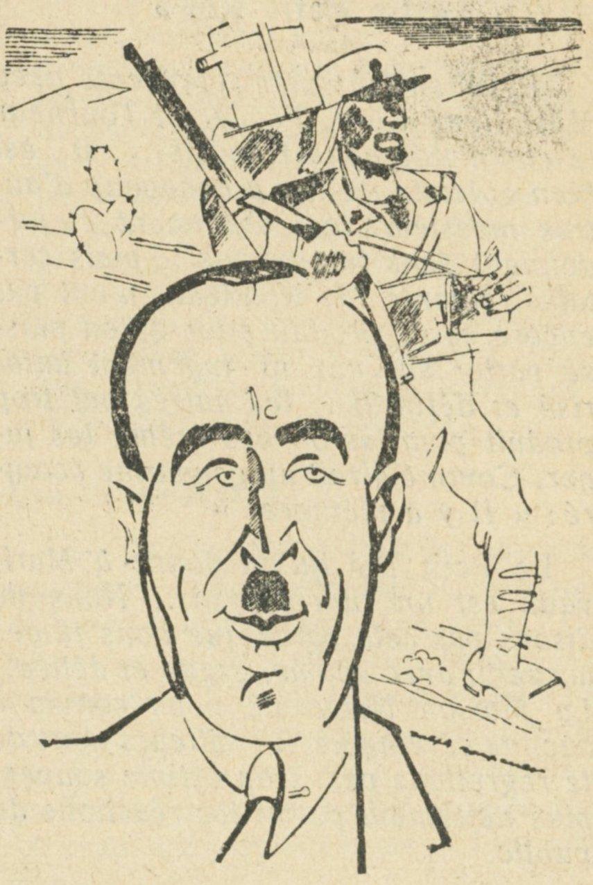 Jean des Vallières par Soupault, Charivari 1933.