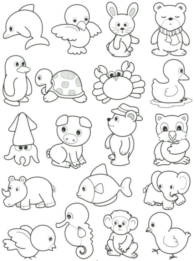 Susse Kleine Tiere Zum Ausmalen Ausmalen Und Malvorlagen Animal Drawings Animal Coloring Pages Art Drawings For Kids