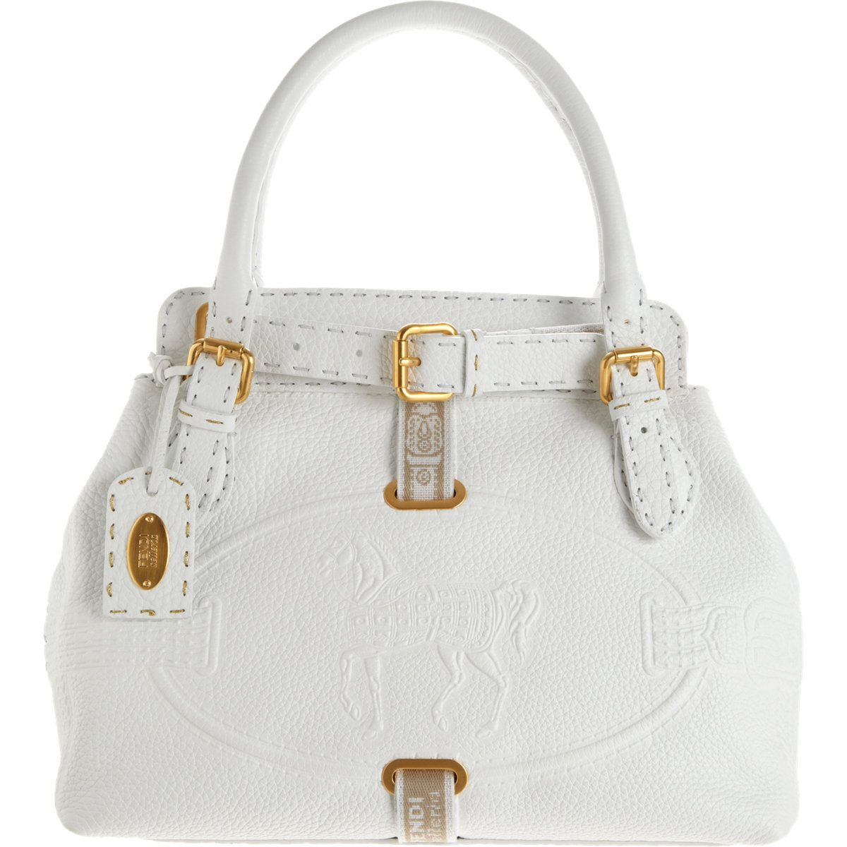 e4000a4d59 Fendi Selleria Horse Logo Tote at Barneys.com | I'm a Bag Lady! in ...
