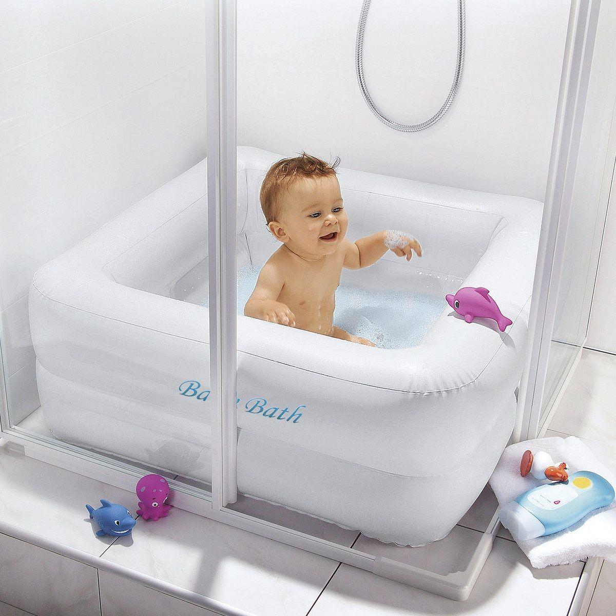 Baignoire gonflable carree baby pool b b est l pinterest baignoire b b bebe et bain bebe - Baignoire de douche gonflable ...