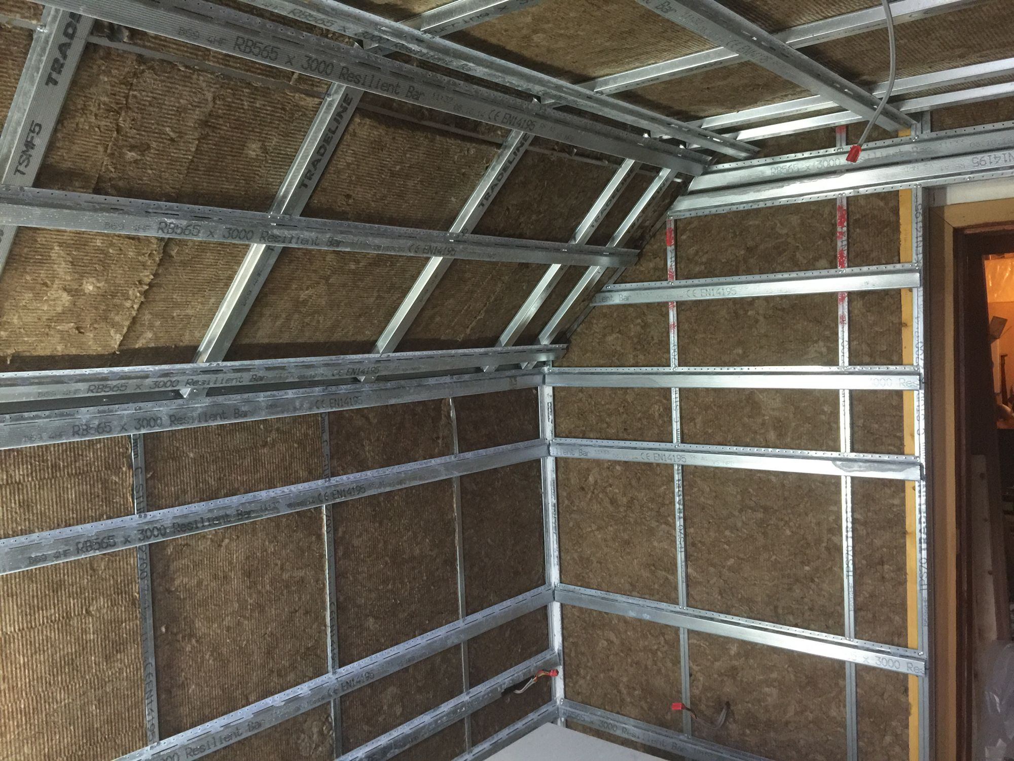 Room within a room Soundproofing framing Showing acoustic insulation ...