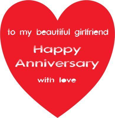 happy one year anniversary to my girlfriend