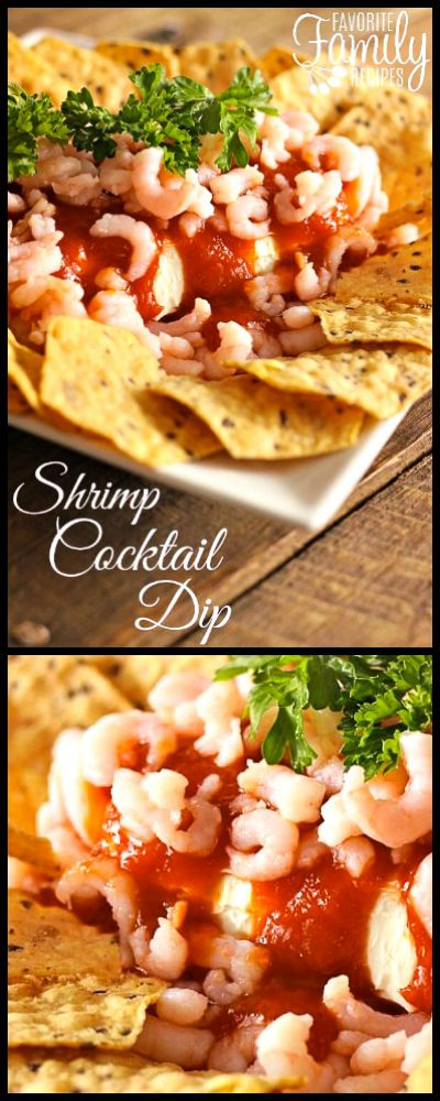 This Shrimp Cocktail Dip is always a favorite around the holidays and it couldn't be easier. It literally only takes 5 seconds to put together!