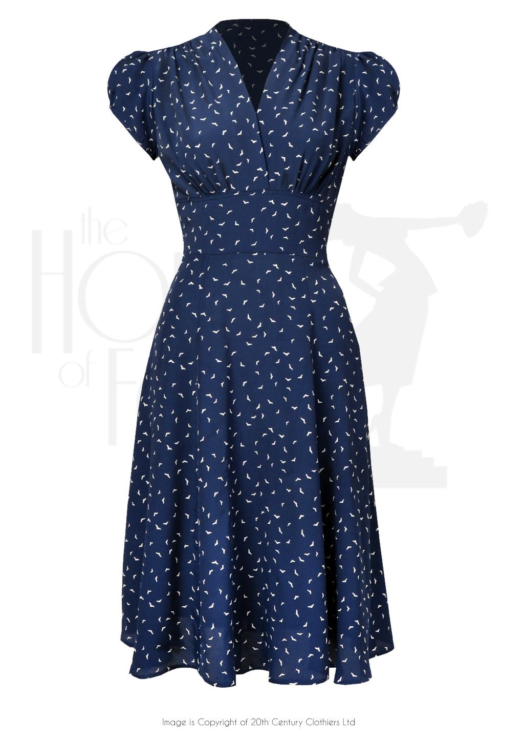 1930s 40s Ava Tea Dress in Starling Crepe - House of Foxy | Dance ...