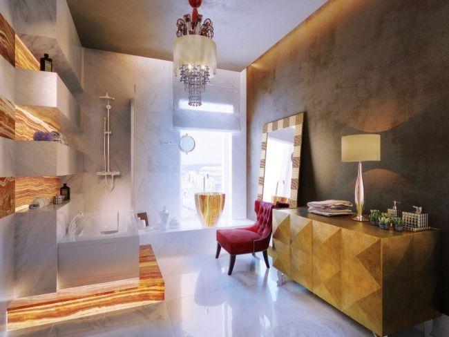 Elegant Luxus Bad Weiß Gold Kronleuchter Badewanne Regale Kommode | Badezimmer  Gestaltungsideen | Pinterest | Gold