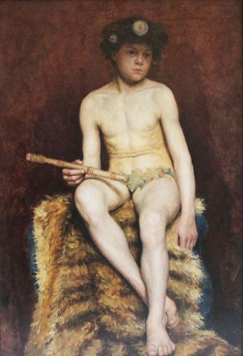 """felyxonhere: """" Piper boy as Pan """"Nude male youth posed as Pan"""" by unknown  19th Century German Artist """""""
