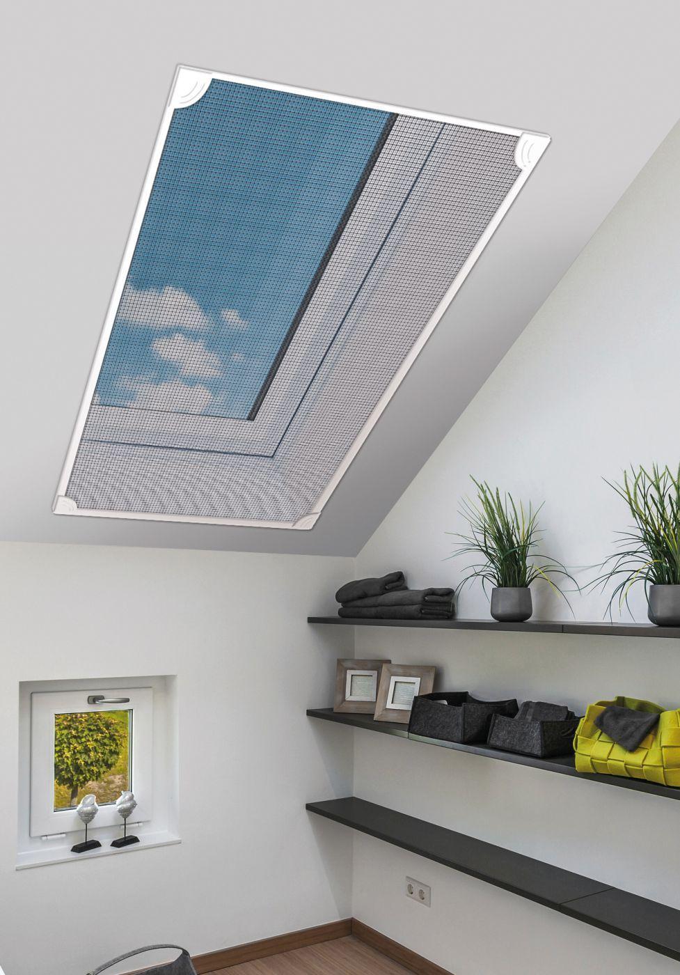 schellenberg magnetisches dachfenster-fliegengitter | insektenschutz