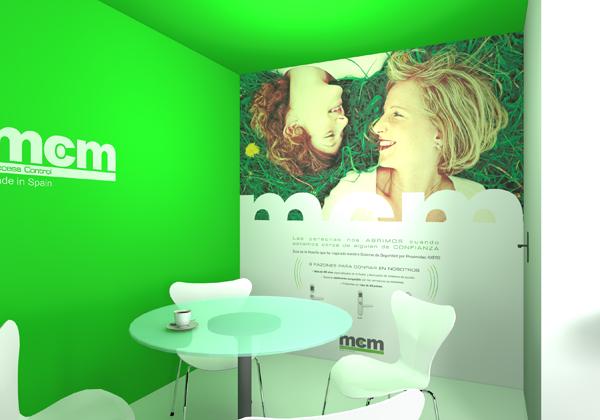 Stand diseñado, construido y montado por Kota Espacios Creativos para la participación de MCM en HOREQ 2015