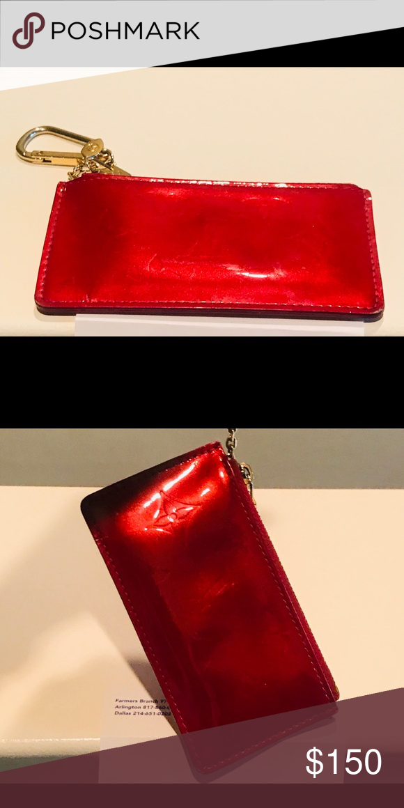 756cf91c2c5893 Louis Vuitton apple red keychain wallet. Louis Vuitton apple red keychain  wallet. 100% Authentic Date Code is CA2097 Please see picture Louis Vuitton  Bags ...
