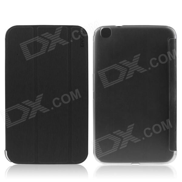 ENKAY ENK-7037 Protective PU Leather Case Cover for Samsung Galaxy Tab 3 8.0 T310 / T311 - Black