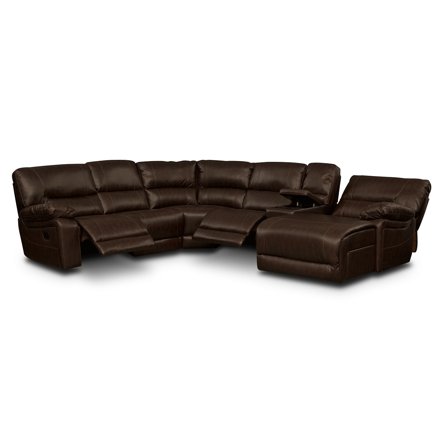 Wyoming Godiva 5 Pc Reclining Sectional American