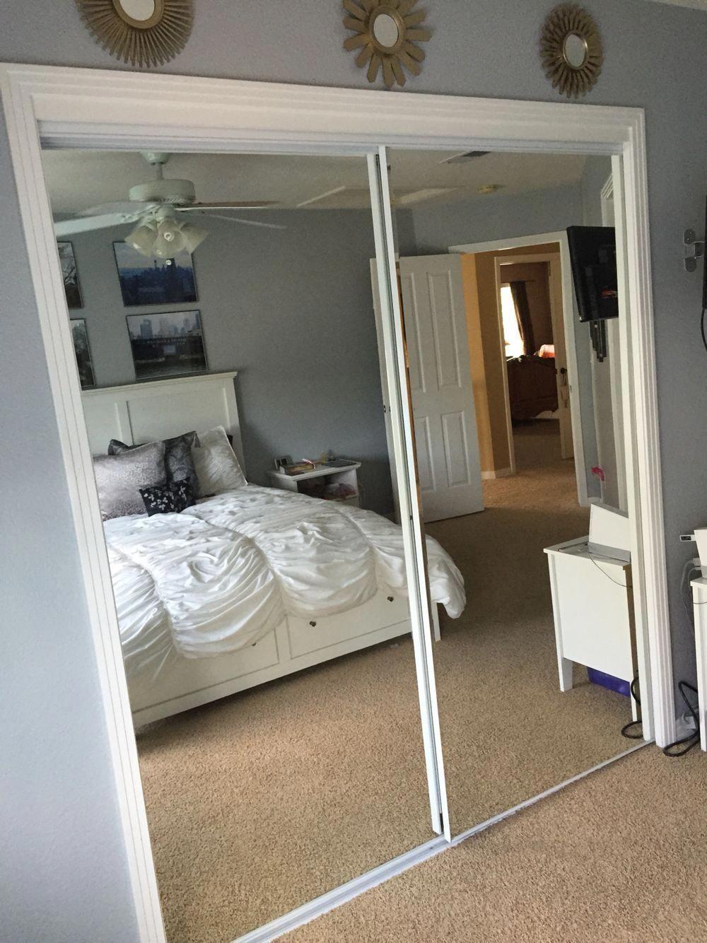Internal Sliding Glass Doors Sliding Closet Doors Lowes Sliding Mirror Close In 2020 Mirror Closet Doors Apartment Bedroom Design Remodel Bedroom