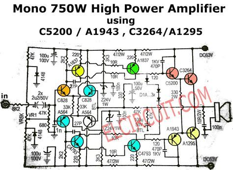750w mono power amplifier schematic and pcb rh pinterest com 10000 watts power amplifier schematic diagram subwoofer power amplifier schematic diagram