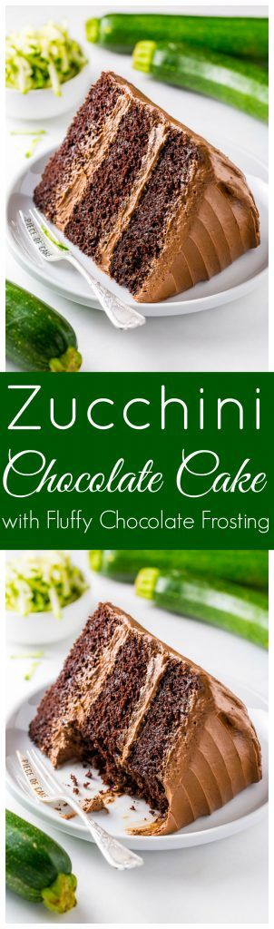 Holy YUM!!! This Chocolate Zucchini Cake is moist, rich, and topped with fluffy chocolate frosting!