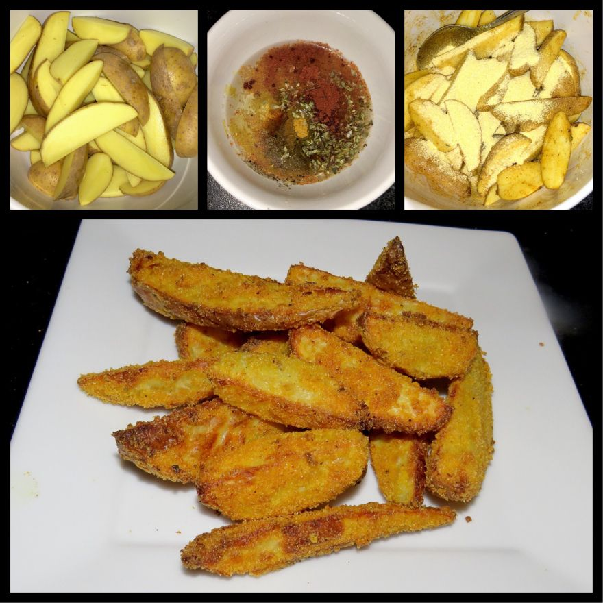 Knusper Kartoffelecken (Crunchy potato wedges) #kartoffeleckenbackofen