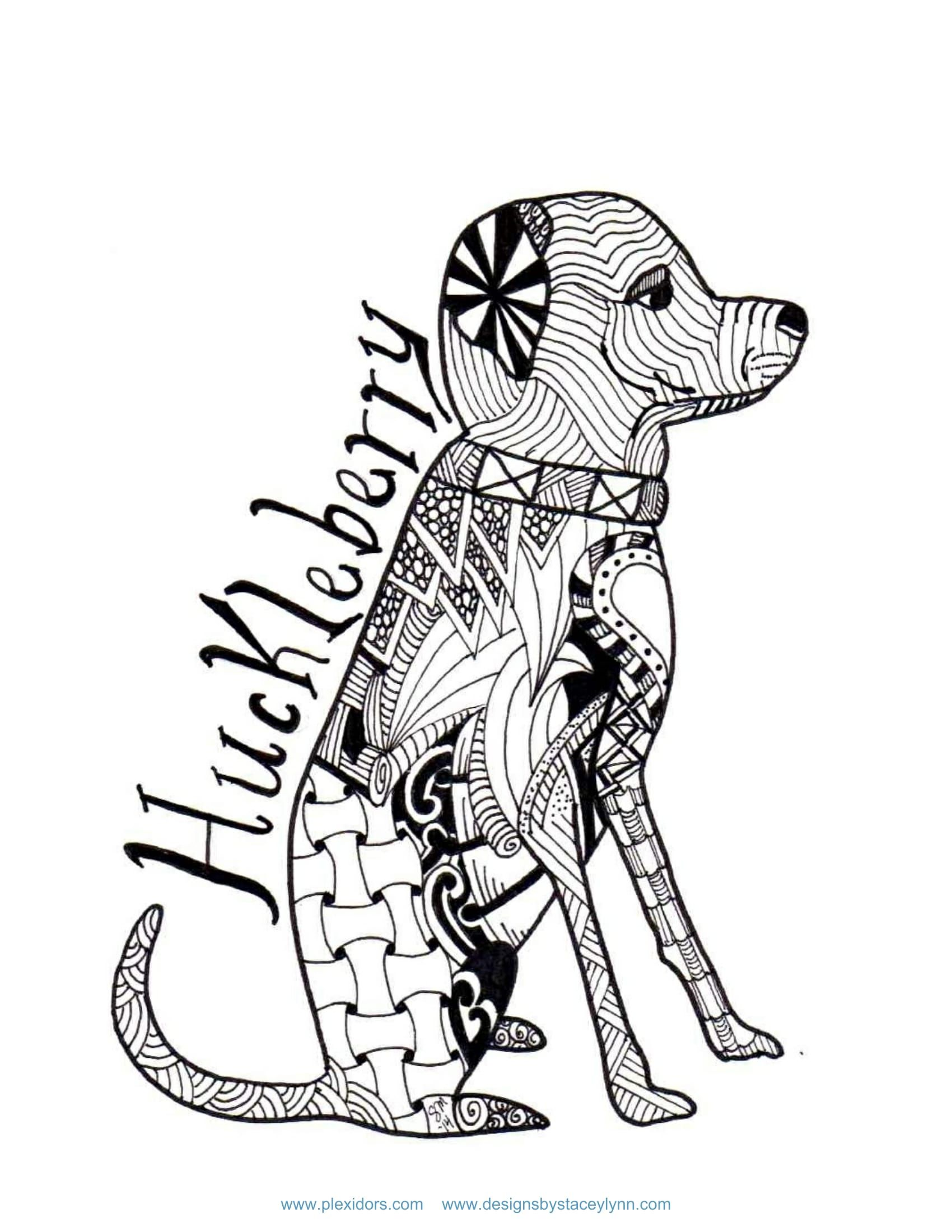 Huckleberry Dog coloring sheet | Activity and Coloring Sheets ...