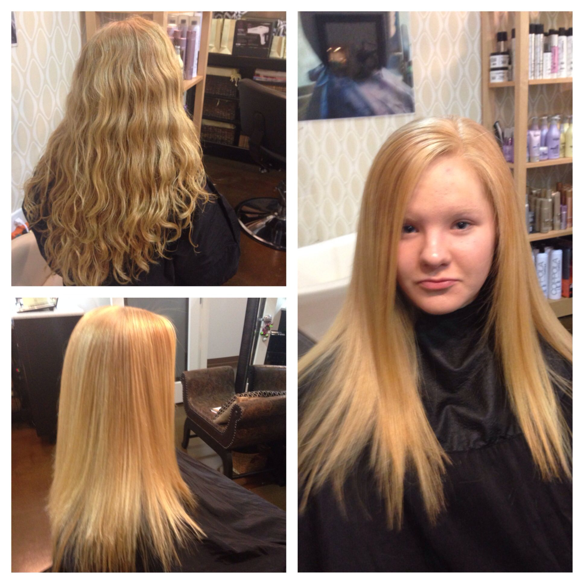 Before/after New Peter Coppola Keratin Concept