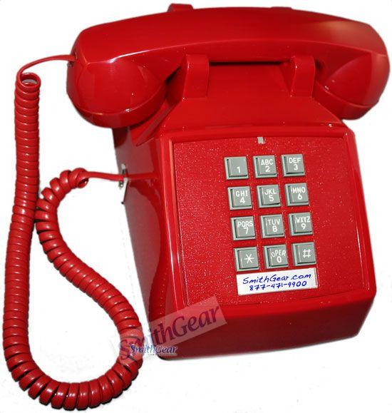 Cortelco 2500 Desk Phone RED in 2020 | Phone, Vintage ...