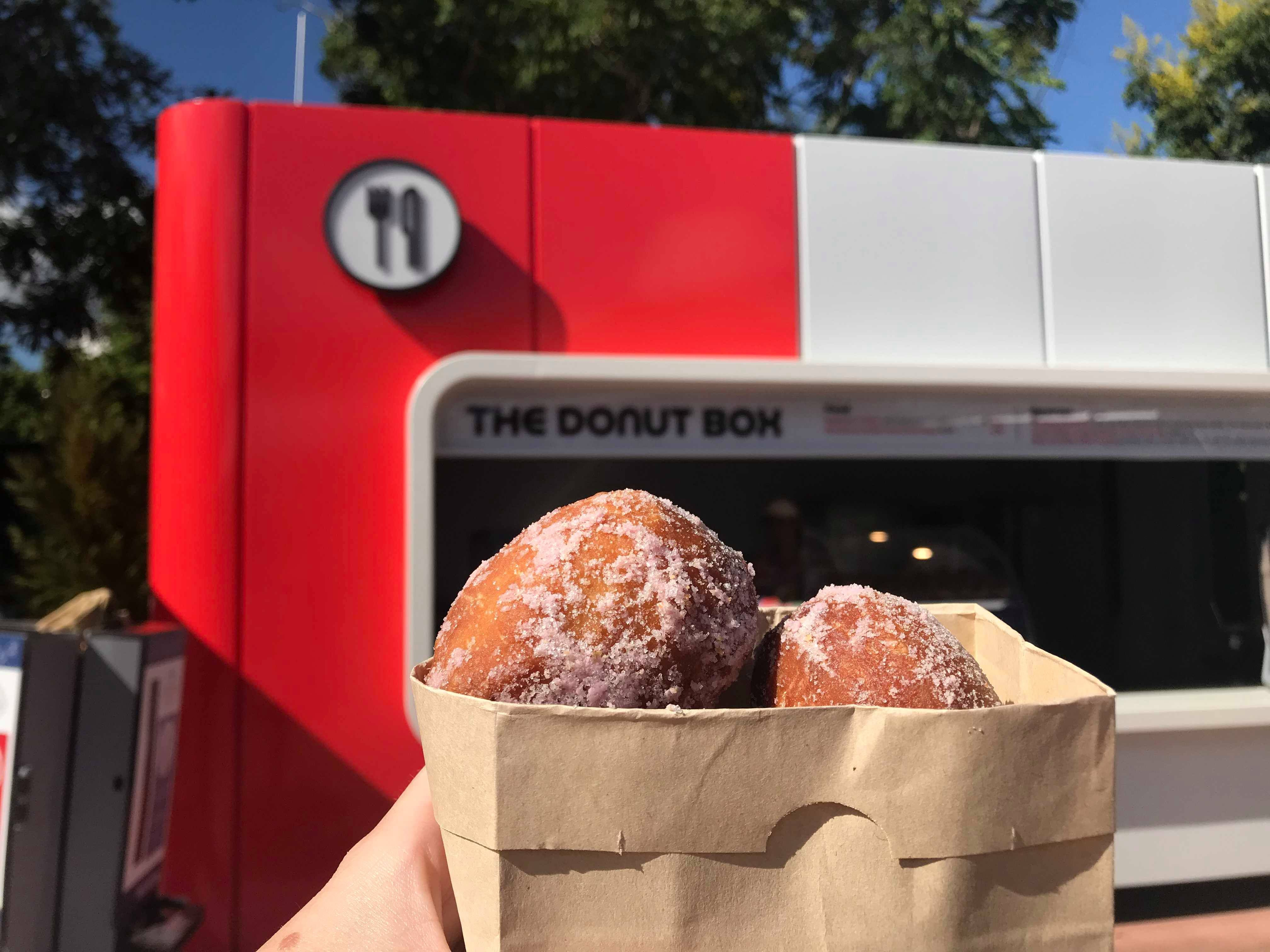 Open Wide The Donut Box Is Now Open At Epcot S Food And Wine Festival Wine Recipes Epcot Food Food
