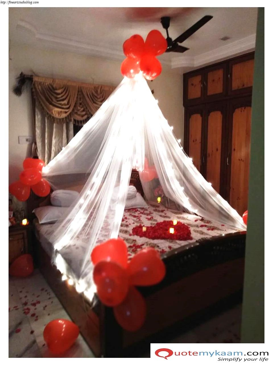 37 Fascinating Room Decoration Ideas For Anniversary Scheme Fine Art Studio In 2020 Wedding Room Decorations Romantic Room Wedding Night Room Decorations