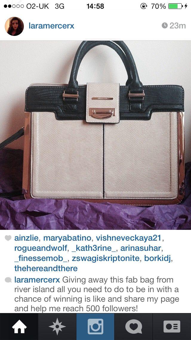 Follow my Instagram!! Laramercerx for a chance to win a river island bag
