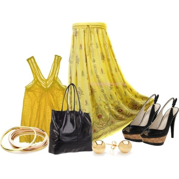 yellow mode (BombayFashions DISCOUNTED Full/Ankle Length UNLINED Sequin Bohemian Gypsy Lightweight India Skirt )