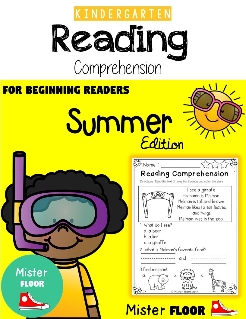 - Kindergarten Reading Comprehension (Summer) Reading