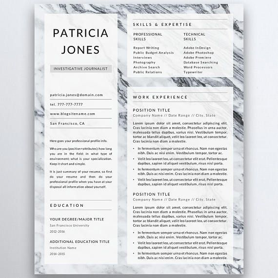 Modern and minimalist resume template for serious professionals - modern resume tips