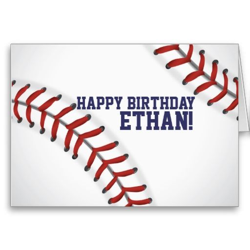 Baseball Birthday Card by Sheila Peterson Design!! www.zazzle.com ...