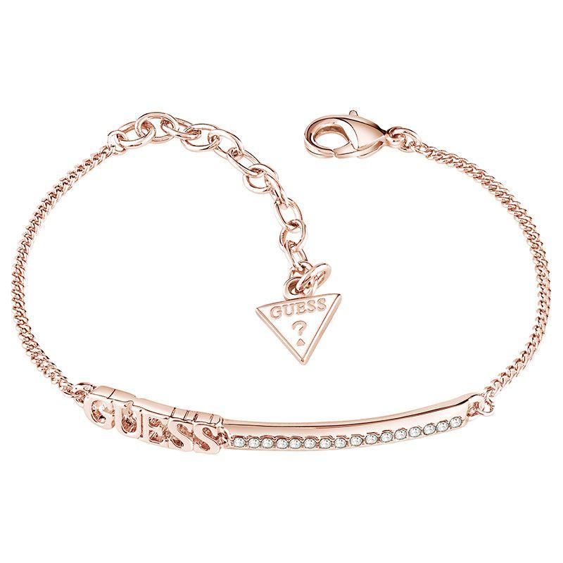 Guess Linear Rose Gold Plated Ladies Bracelet UBB82039 L