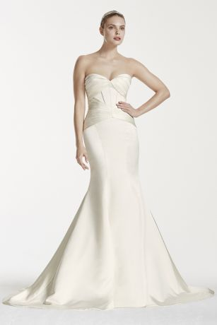 sleek satin mermaid gown perfect for today's modern day