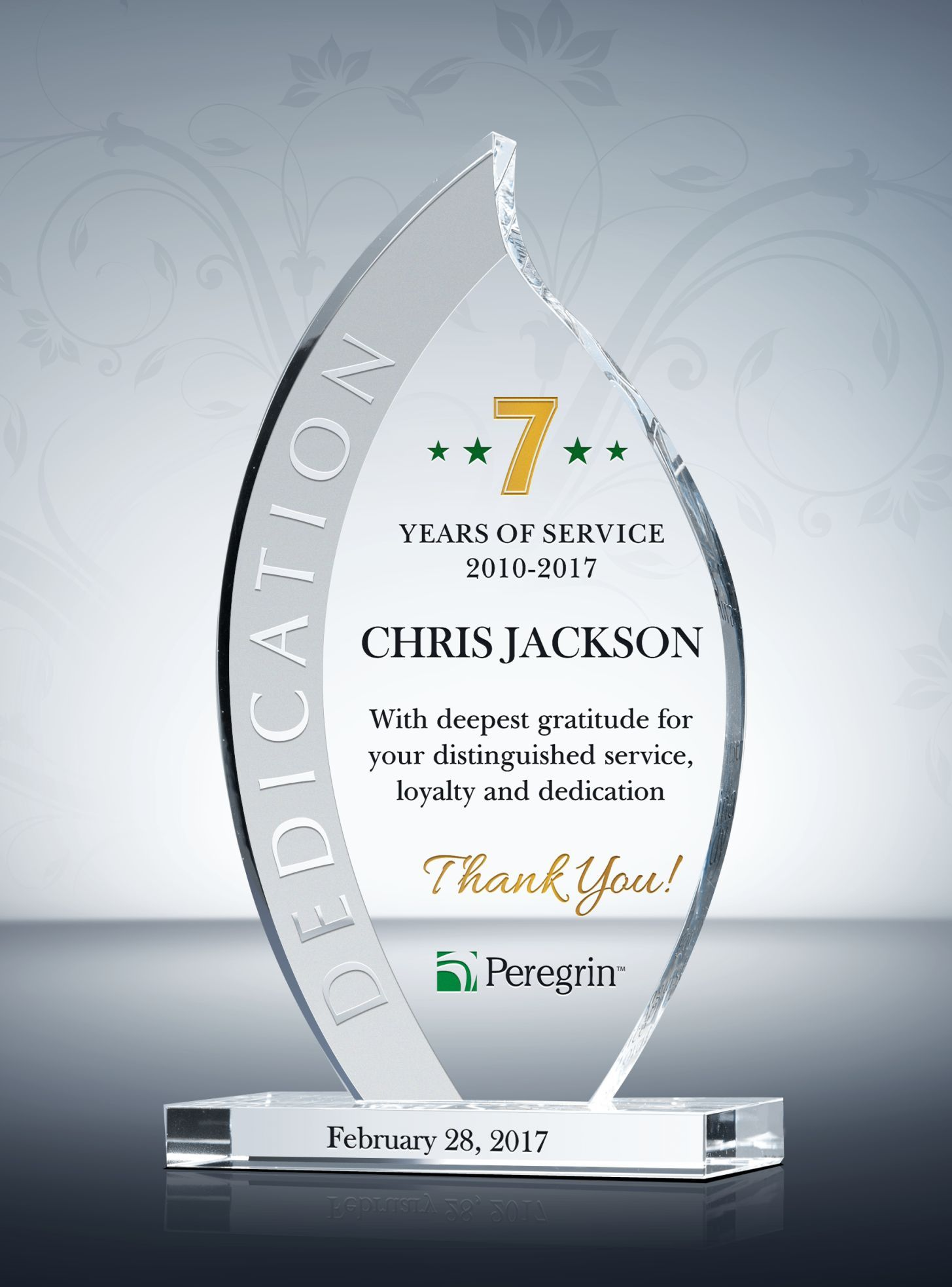 Flame Long Service Award Plaque Award Plaques
