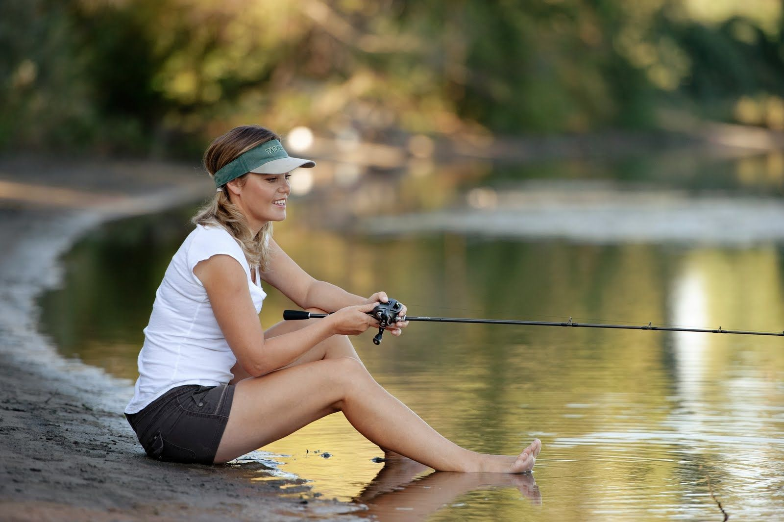 Sexy babes fishing wallpapers
