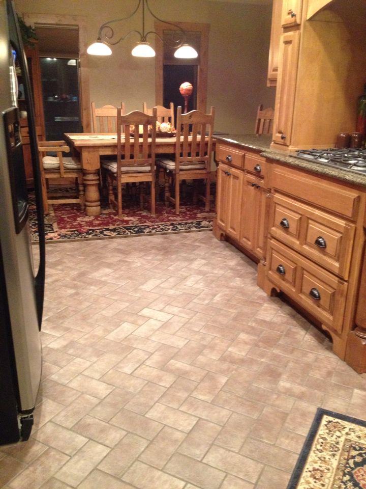 Brick Paver Kitchen Floor