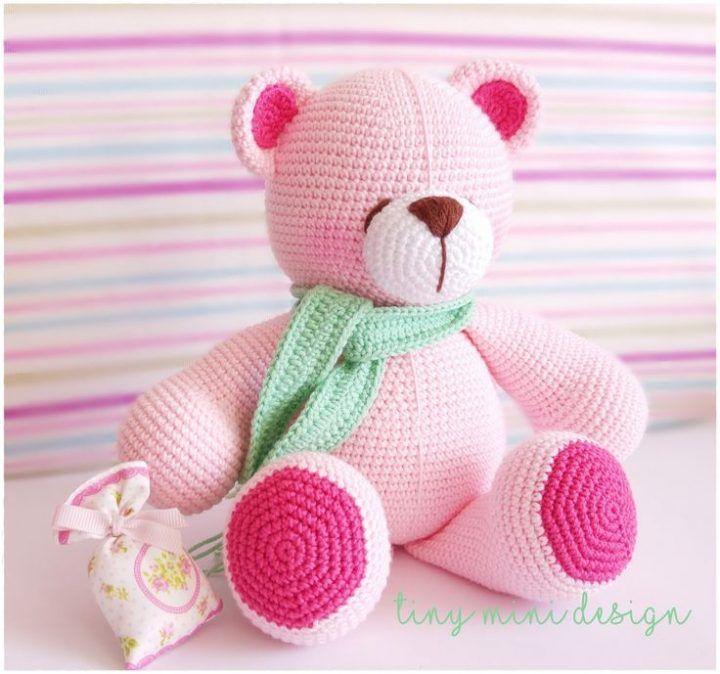 amigurumi pink bear  stricken häkeln dıy handwerk