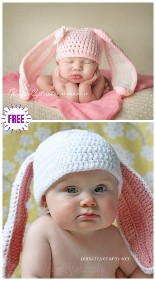 bd58a57d76f Cute Crochet Baby Animal Hat Free Crochet Patterns - Crochet Bunny Hat Free  Crochet Patterns