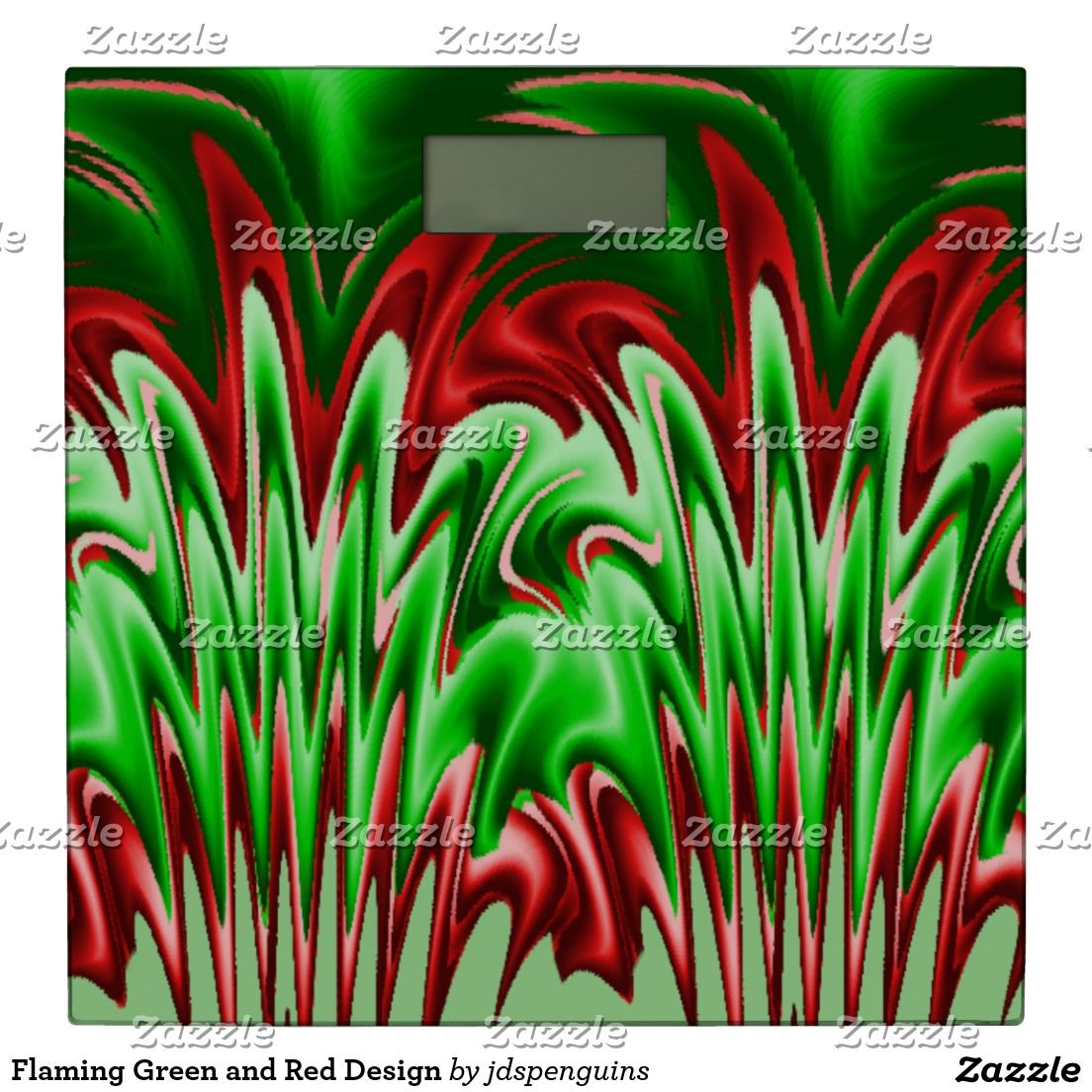 Flaming Green and Red Design Bathroom Scale