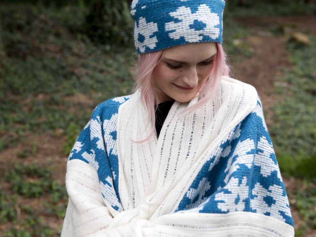 Floral hat and matching poncho