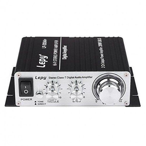 3A Power Lepy LP-2024A Hi-Fi Audio Amplifier Stereo Power Amplifier Car Amplifier with Power Supply
