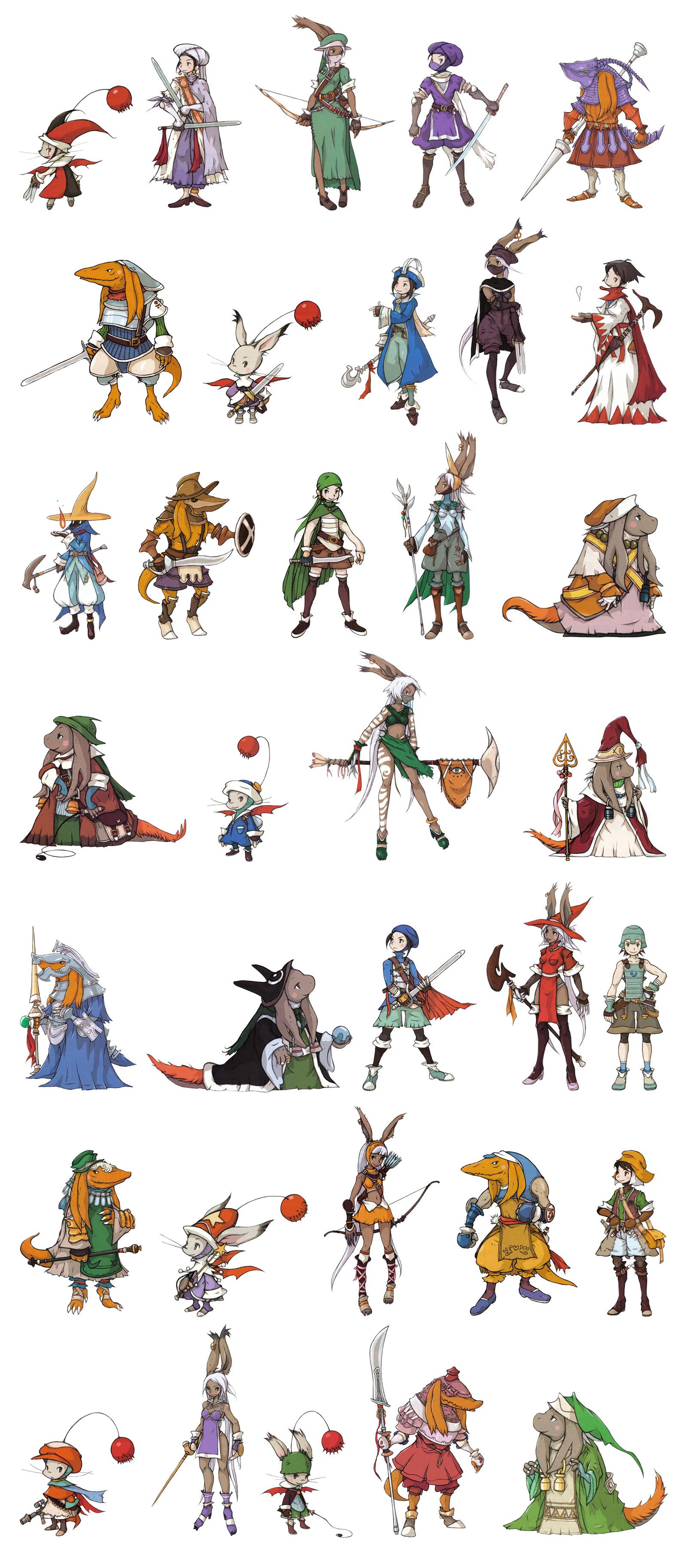 Final Fantasy Tactics Advance - All 34 Jobs | Drawing References ...