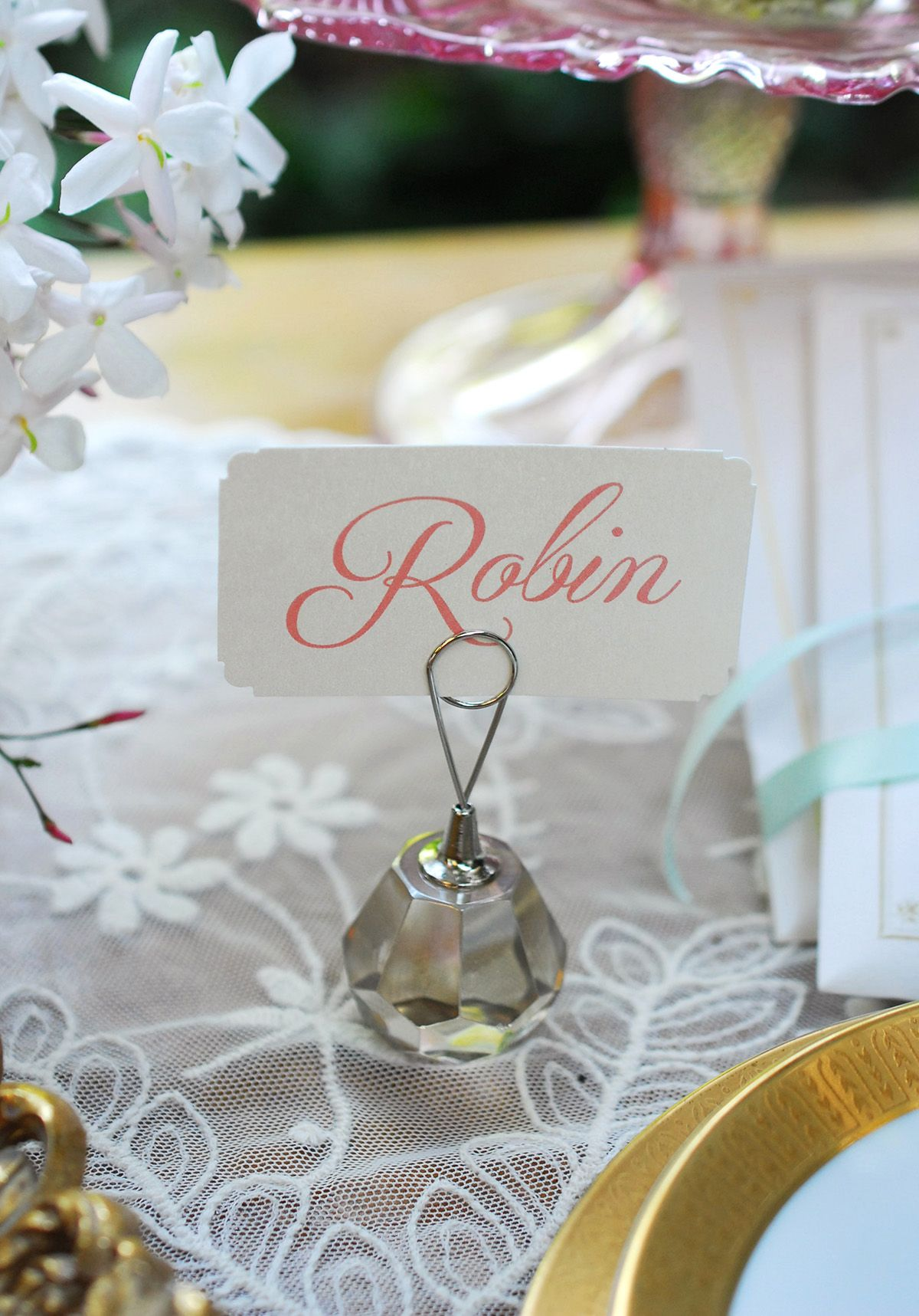 Crystal Card Holder 1in (Set of 12)   Anniversary Celebration ...