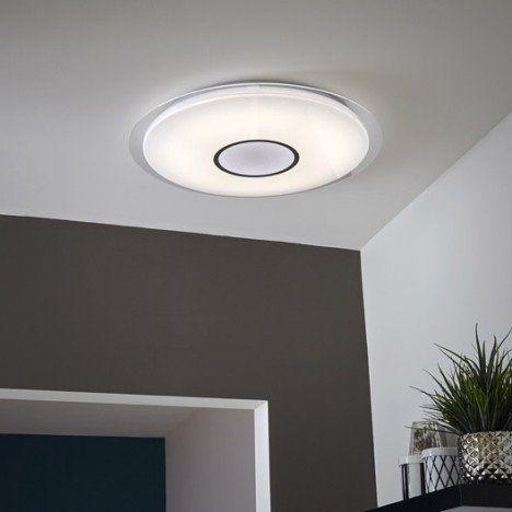 Plafonnier design led intégrée vizzini plastique blanc 1 inspire