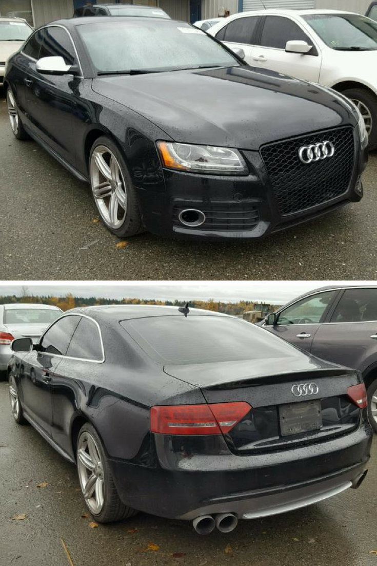 Bid On This 2011 Audi S5 Premium Plus From Our Copart North Seattle Location Goes On Auction Monday November 27 2017 At 2 P M Audi S5 Super Cars Car Auctions