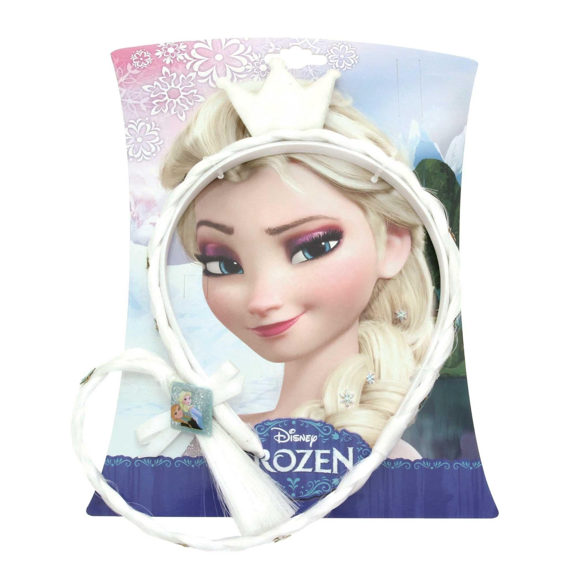 Patch Crown Disney/'s Frozen ® Girls Anna Headband with Braid Locket /& Ring Set