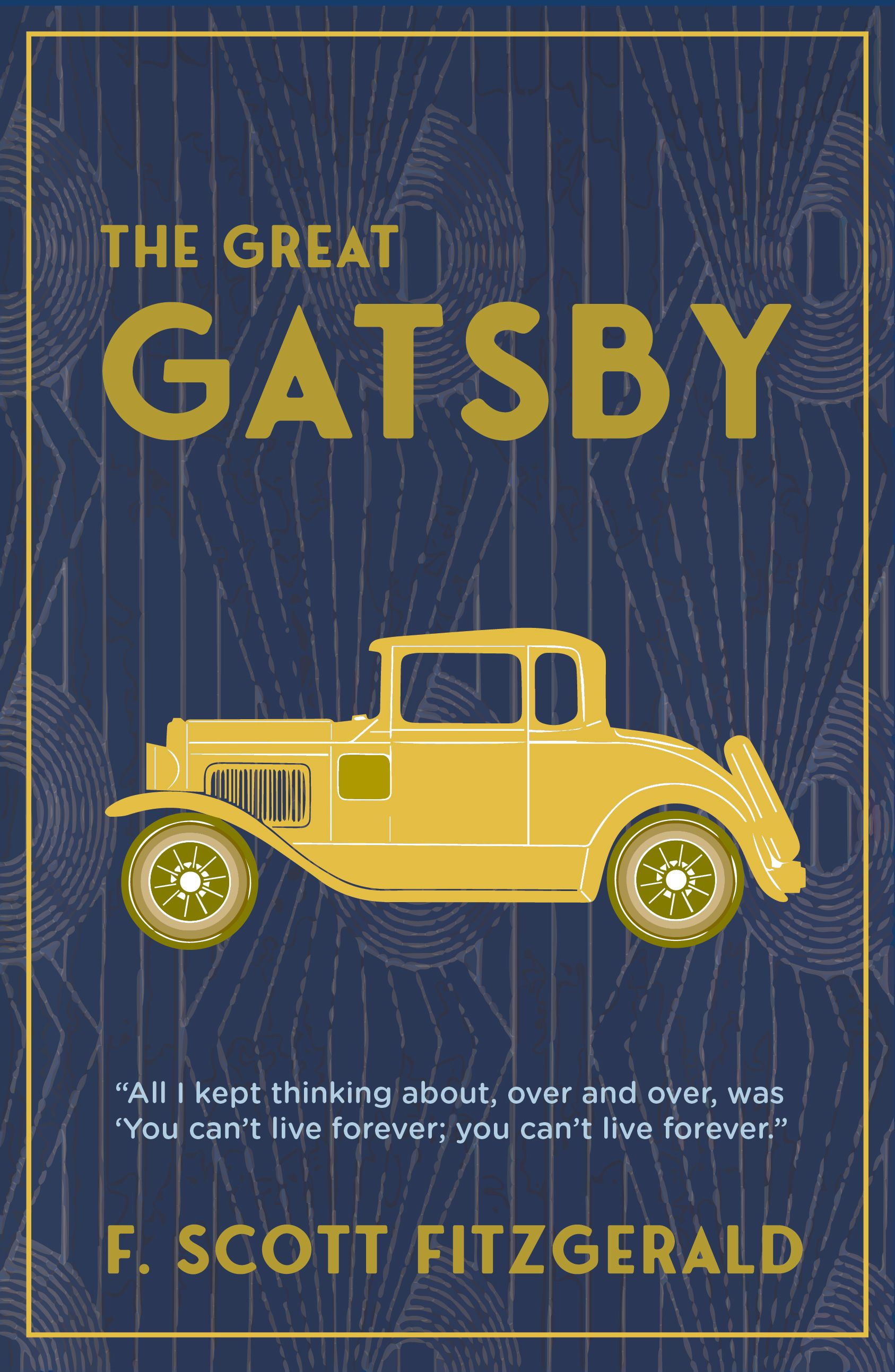 The Great Gatsby By F Scott Fitzgerald Book Poster In