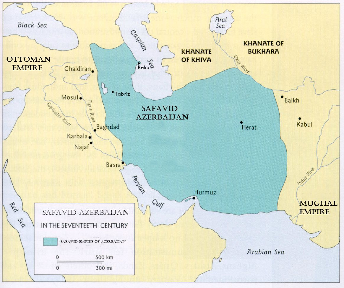 Safavid Empire map (Azerbaijan) | Safavid Empire (Azerbaijan