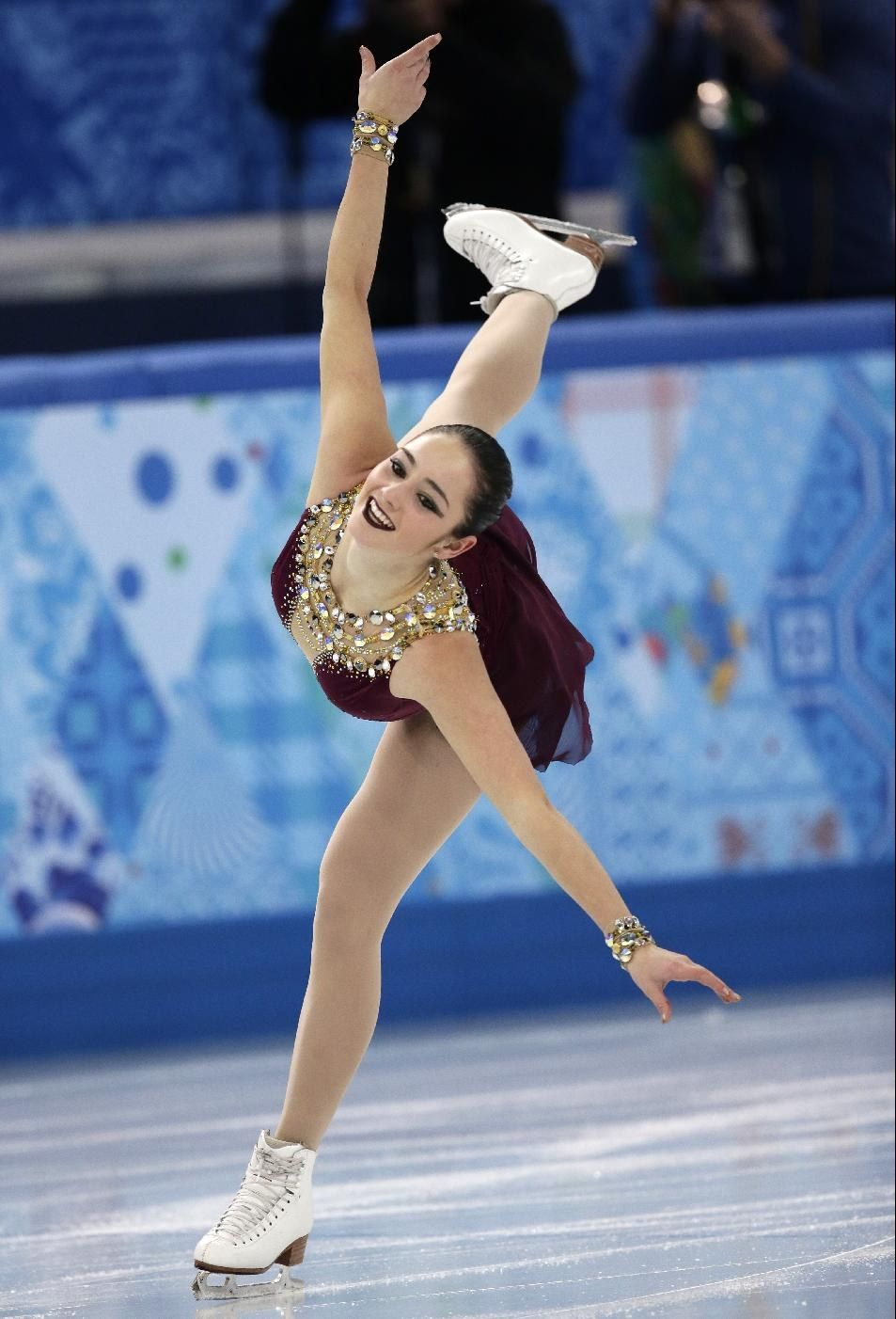 Kaetlyn Osmond of Canada competes in the women's team free