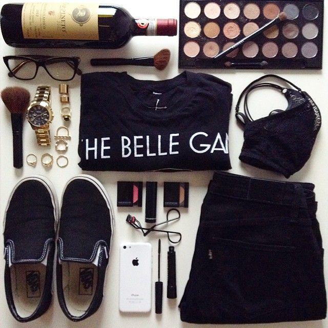 #flatlay #black