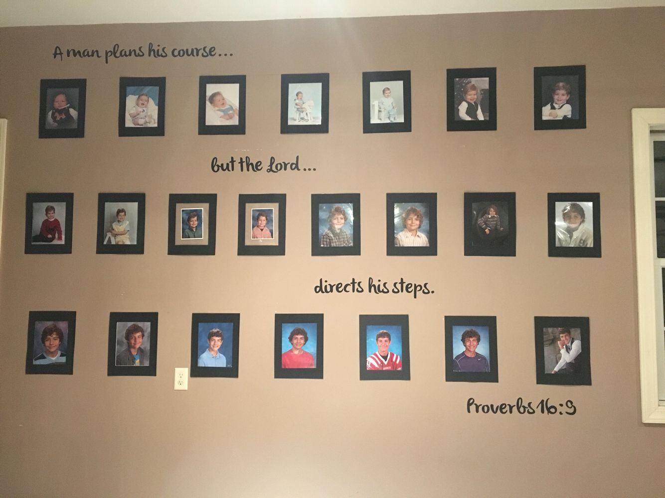 Graduation Party Ideas School Picture Wall Display Proverbs 16 9